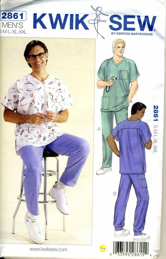 Mens+Scrubs+Kwiki+Sew+2861+Sewing+Pattern+by+YardageRequired,+$6.00 ...