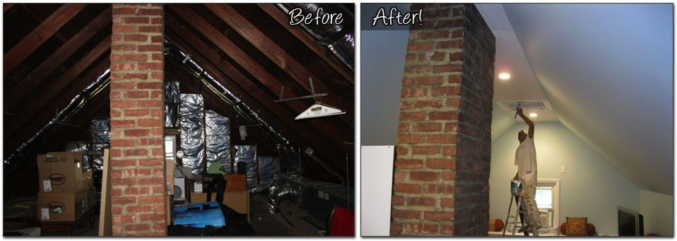 Attic Remodeling Before And After Finished Monk S Home Improvements