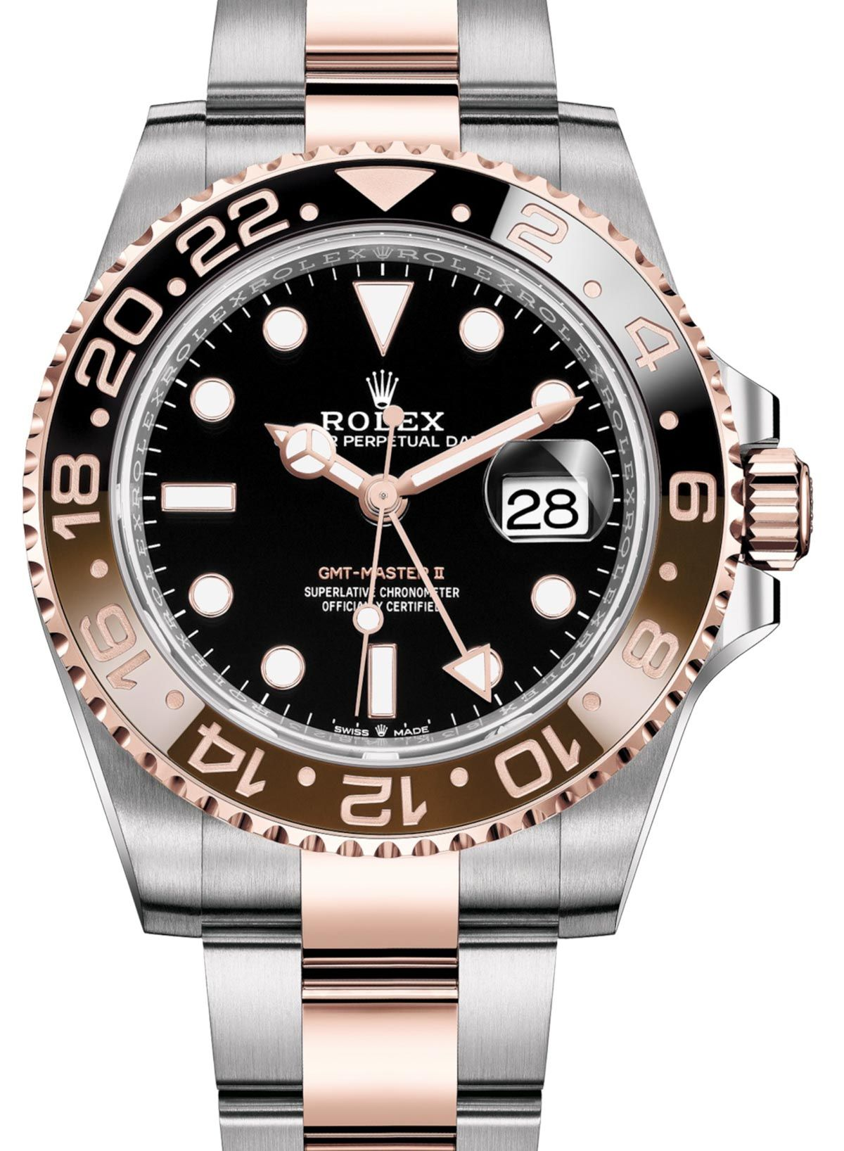 Rolex Gmt Master Ii Root Beer In Rolesor Everose Gold For 2018 Ablogtowatch Luxury Watches For Men Gold Watch Men Rolex Watches For Men