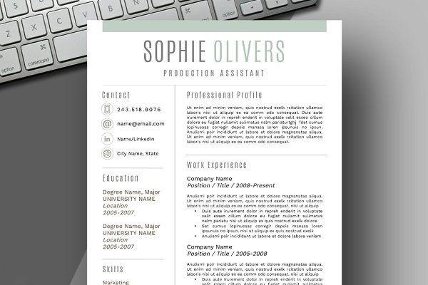 Resume Template  Cover Letter  Resume Design