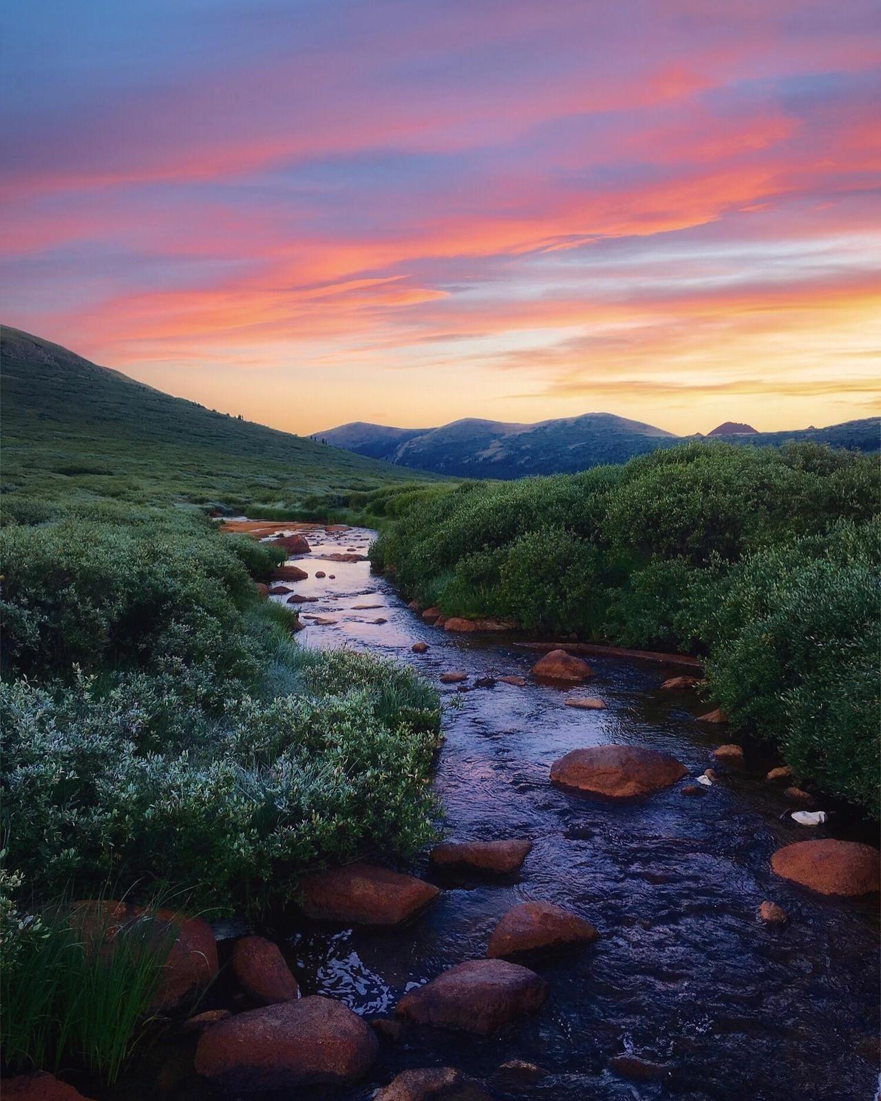A Beautiful Summer Evening At Mount Bierstadt Colorado Nature Photography Landscape Photography Nature Summer Landscape Summer Nature Photography