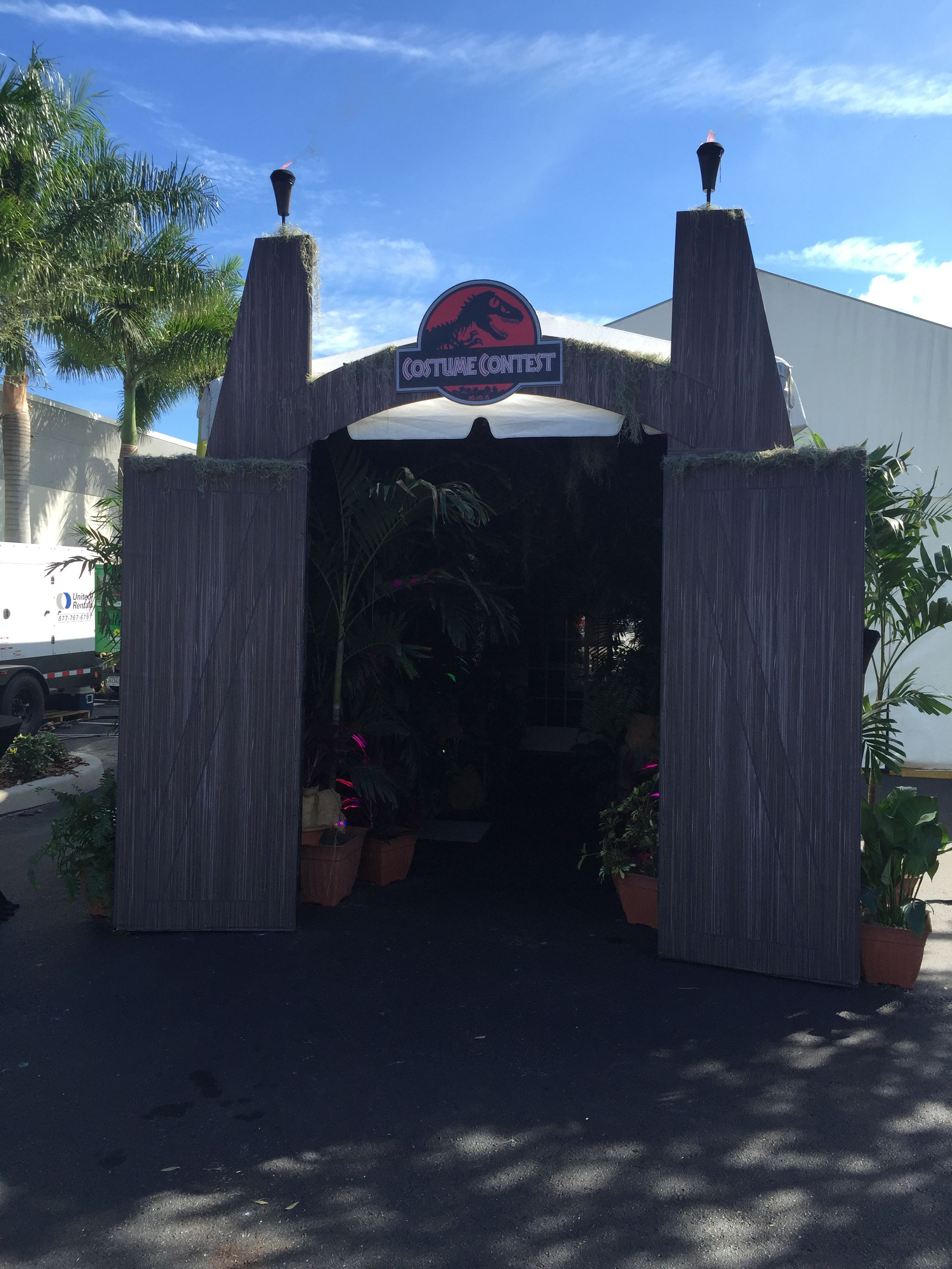 Jurassic Park Entrance Made With Foam Core