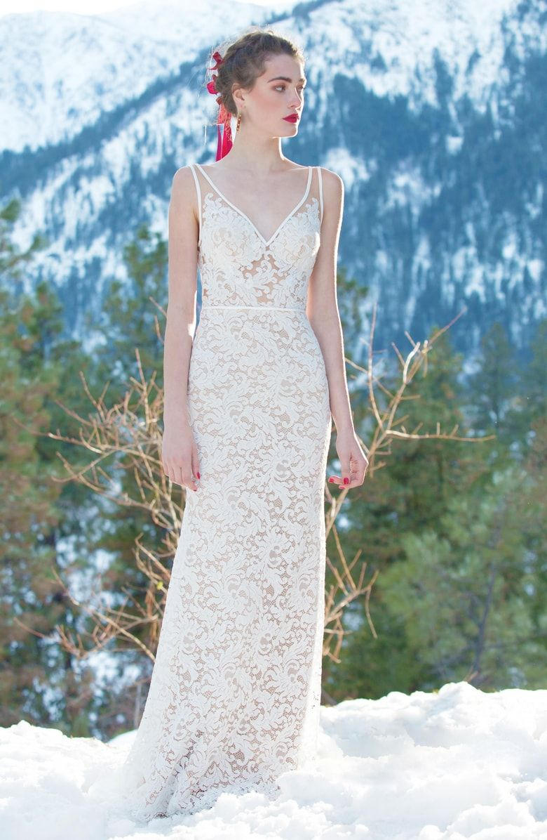 c81c353fb59 Free shipping and returns on Willowby Derica Lace Gown at Nordstrom.com.  Scrolling lace and sheer illusion are the keys to the simple elegance of  this ...