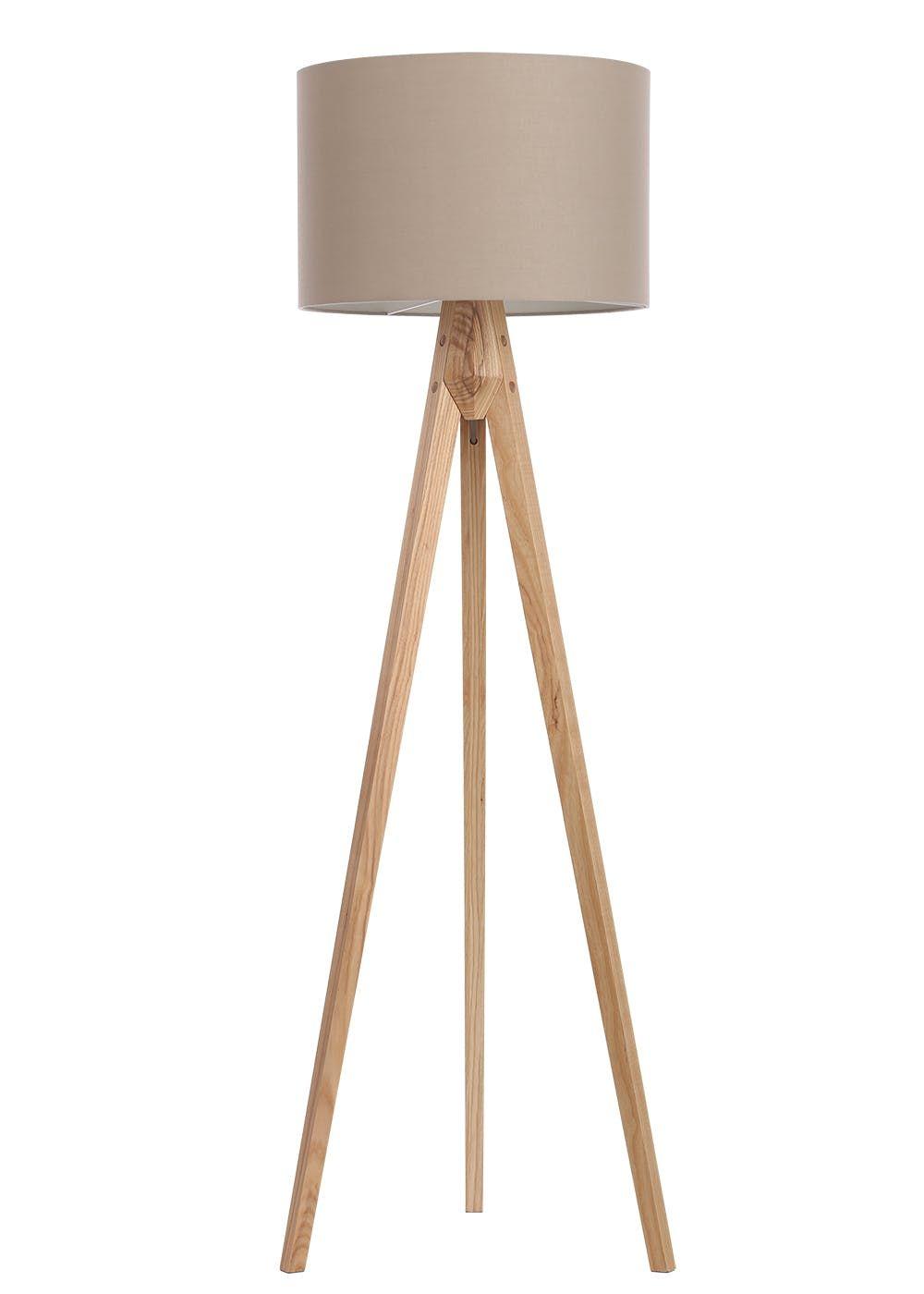 Travis Tripod Floor Lamp H152cm X W45cm Cream Floor