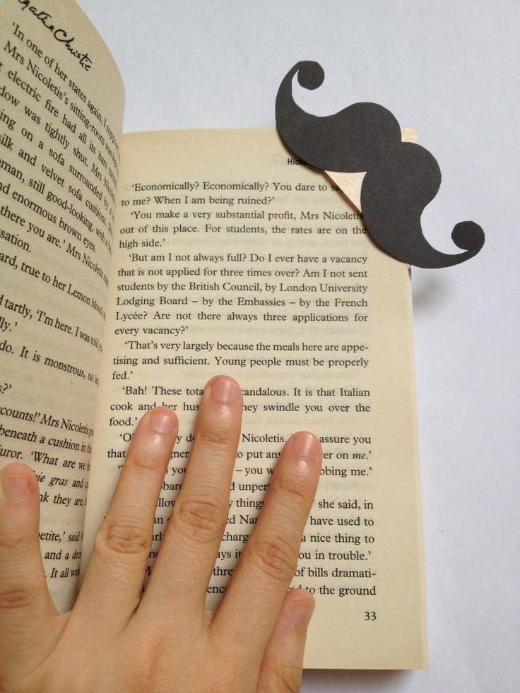 Diy back to school : DIY Hercule Poirots Moustache Bookmark