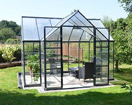 Amazon.com : Palram Four Season Chalet Hobby Greenhouse - 12 x 8 x 9 ...