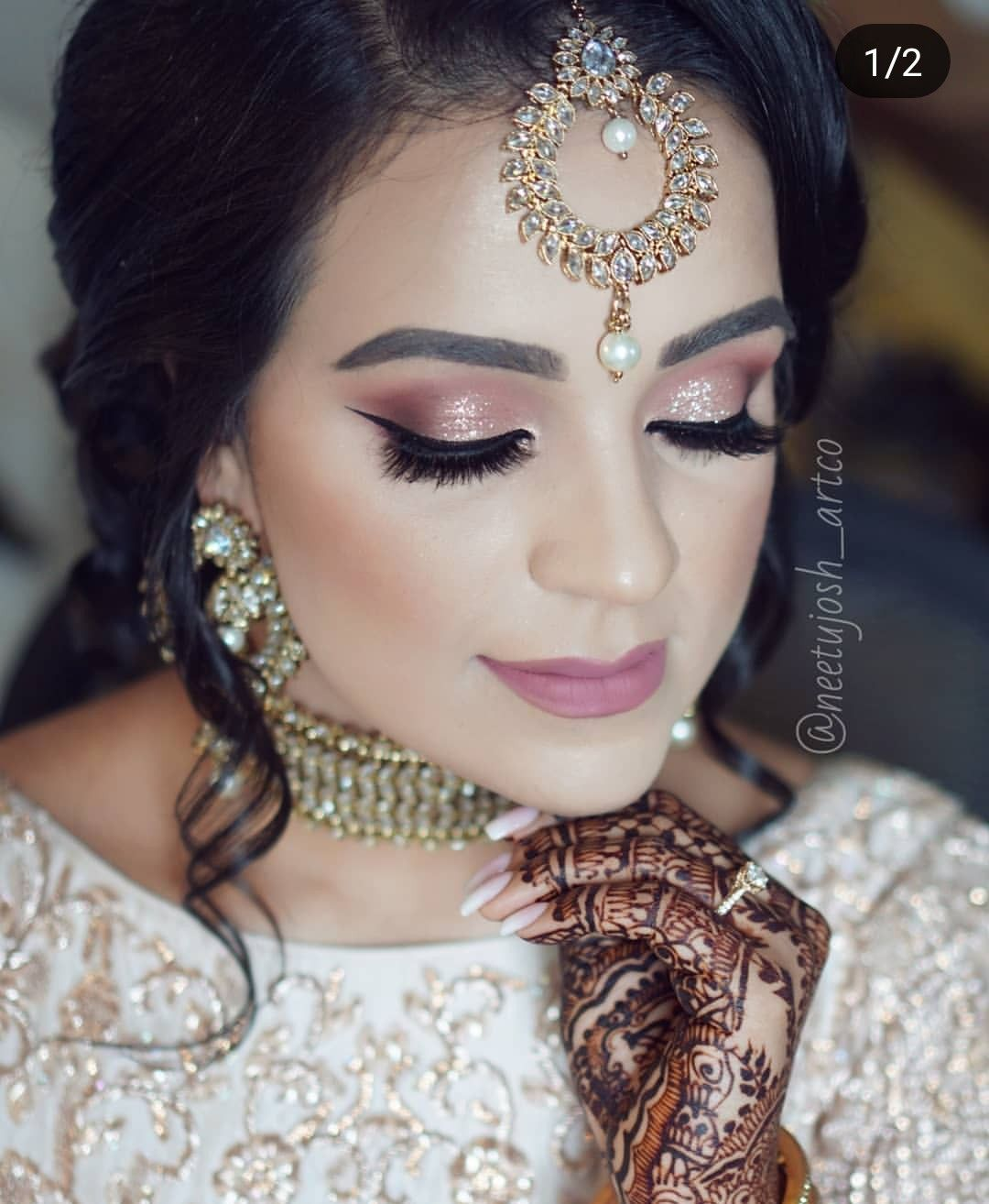 @shikachand #Over40BeautyTips Lehenga Reception, Indian Reception Outfit, Wedding Reception Outfit, Indian