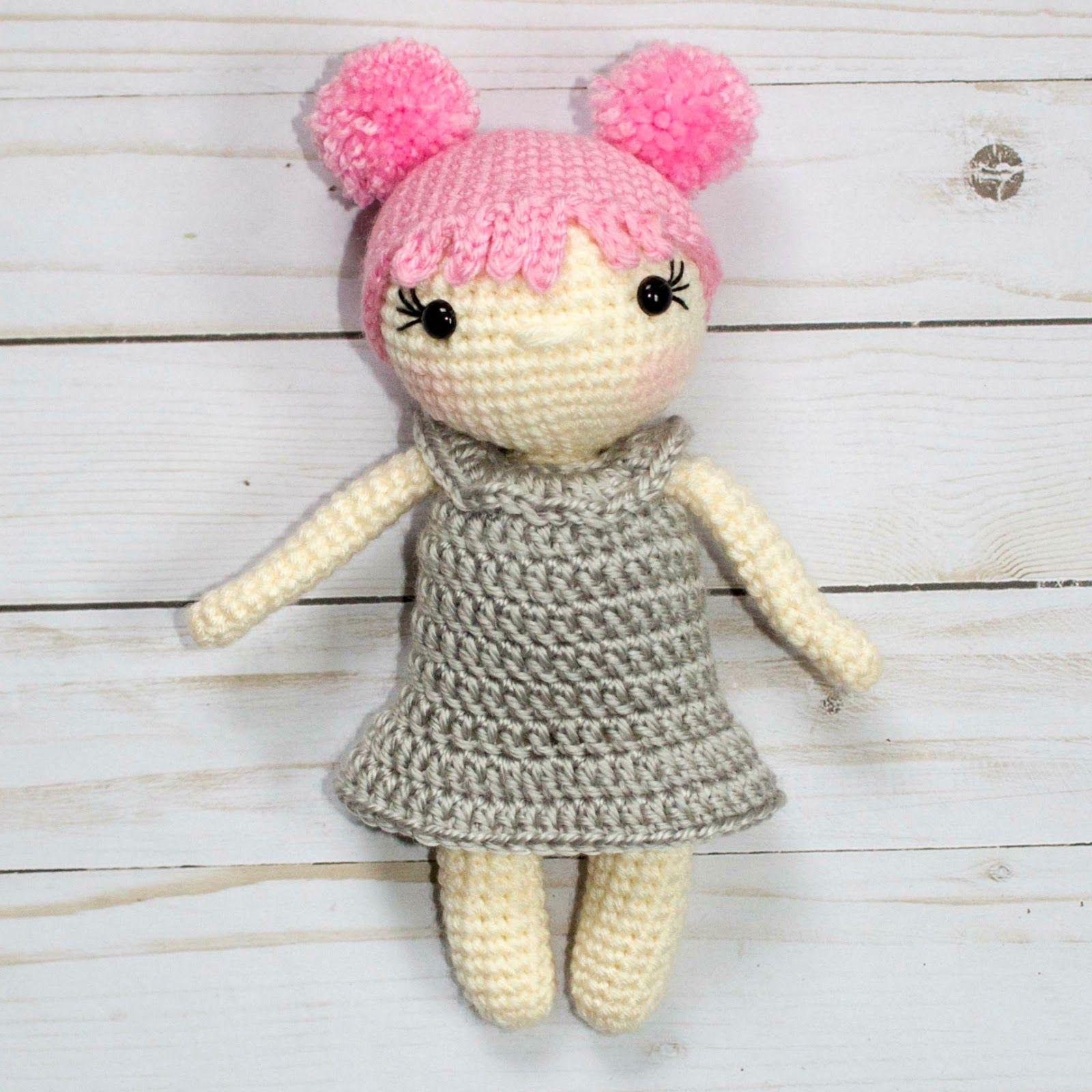 I am really excited to release this free crochet doll pattern! I ...