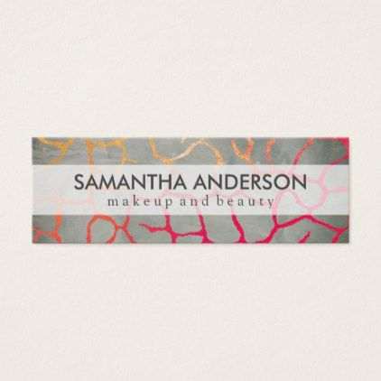 #makeupartist #businesscards - #Contemporary Chic Pattern Mini Business Card