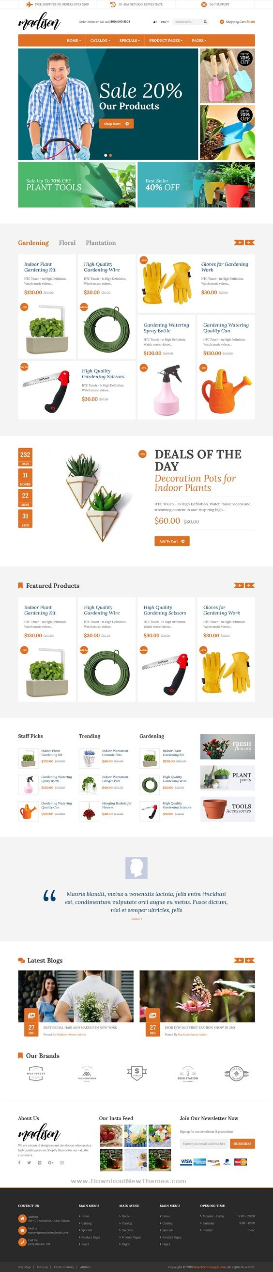 Madison Flowers Plant Beauty Gardening Tools Food Store