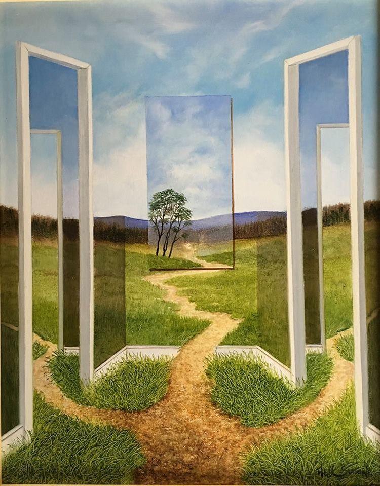 Des Peintures De Peintures De Paysage Par Neil Simone Surrealiste 6 Des Peintures De Peintures De Pay Paysage Surrealiste Surrealisme Peinture Peinture Paysage