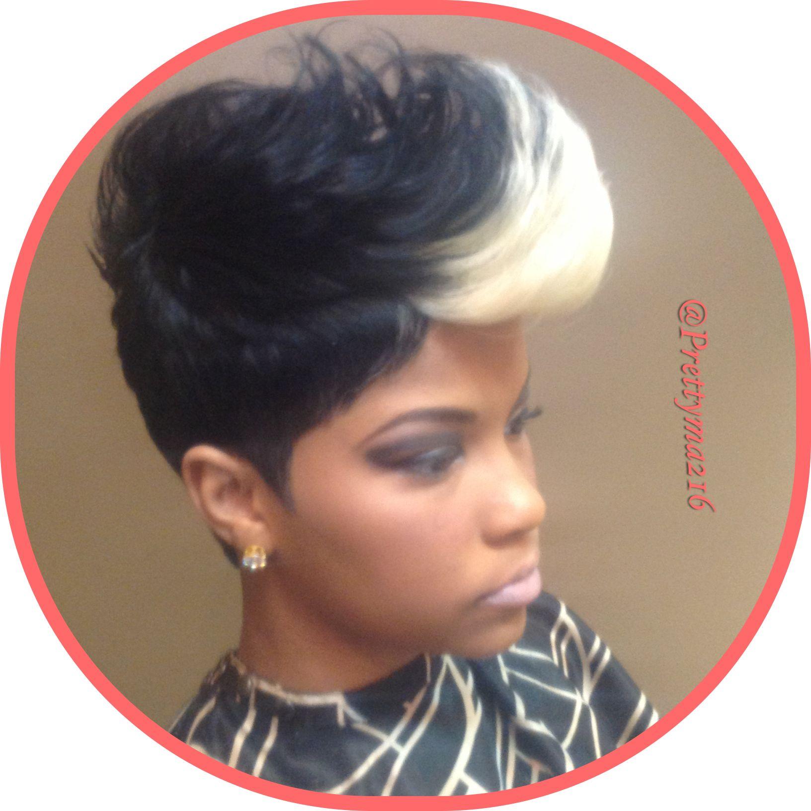Cute cut Mohawks Pinterest Pixie haircut Pixies and Black women