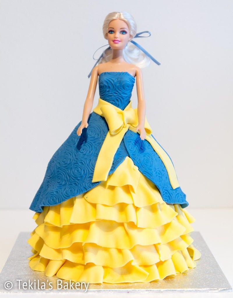 Barbie cake, doll cake, princes cake www.tekila.fi