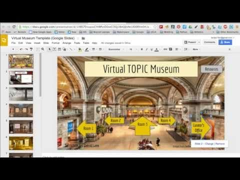 virtual museums with google slides (presentation) | virtual museum, Presentation templates