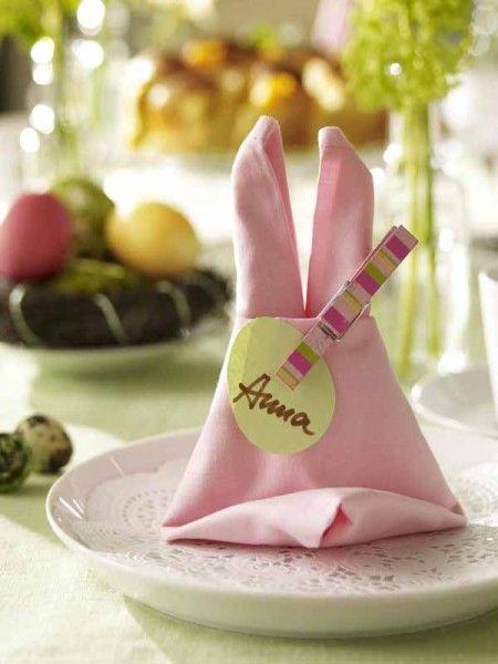Gestaltungstipps Servietten Falten Zu Ostern Mit