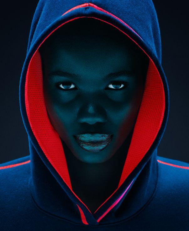 Neon Light Portrait On Behance: Https://www.behance.net/gallery/25190951/Neon-Hoodies