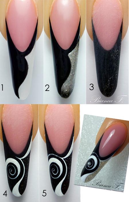 nailart anleitung gelmodellage uv gel n gel pinterest uv gel punk nails and nail polish art. Black Bedroom Furniture Sets. Home Design Ideas