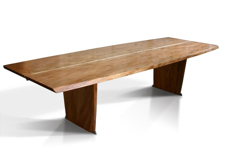 this is a trestle table but in contemporary design. it was used in