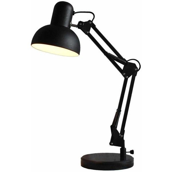 Drafting Lamp With Black Marble Base Kmart 14 Liked On Polyvore Featuring Home Lighting Drafting Lamp Marble Base Lam Lamp Desk Lamp Black Desk Lamps