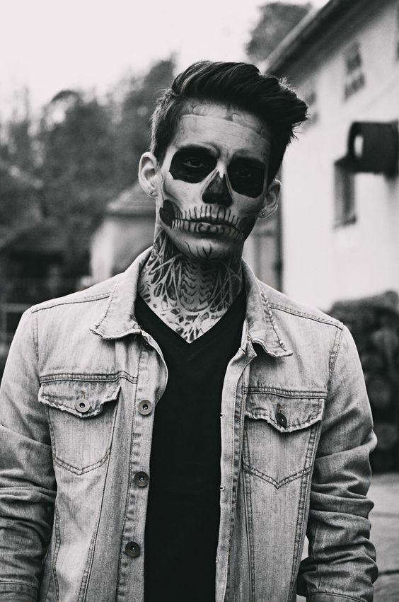 21 Halloween Makeup Ideas For Men #halloweencostumesformen