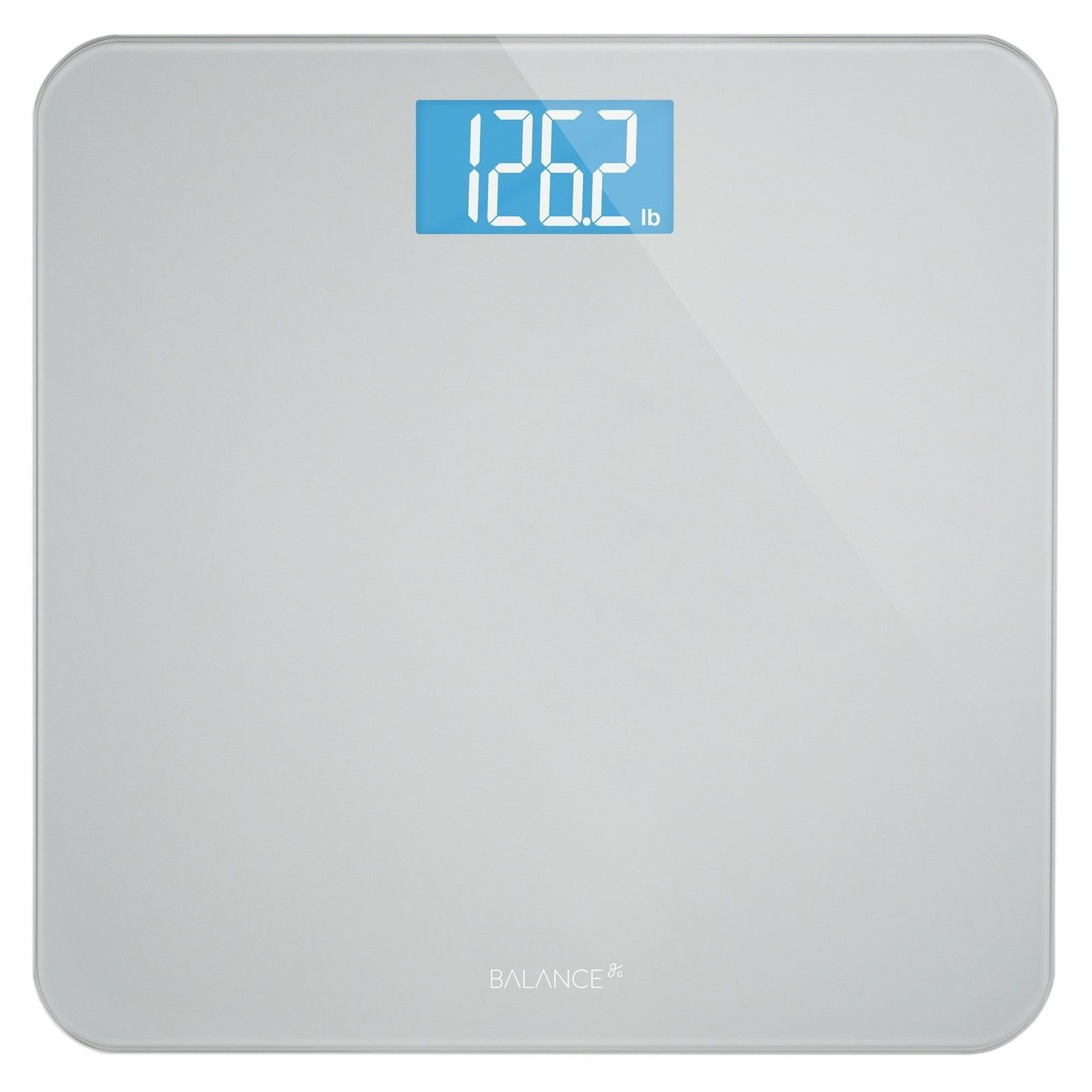 Balance High Accuracy Bathroom Scale With Easy To Read Backlit Lcd And 5