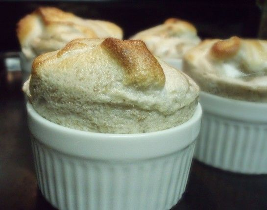 Banana Souffle - LOVED IT - Turned out perfectly.  This recipe makes 6 small ramekins and I bake for 15 minutes.  Good served with sliced strawberries or sprinkled with apple pie spice and/or cinnamon-sugar.