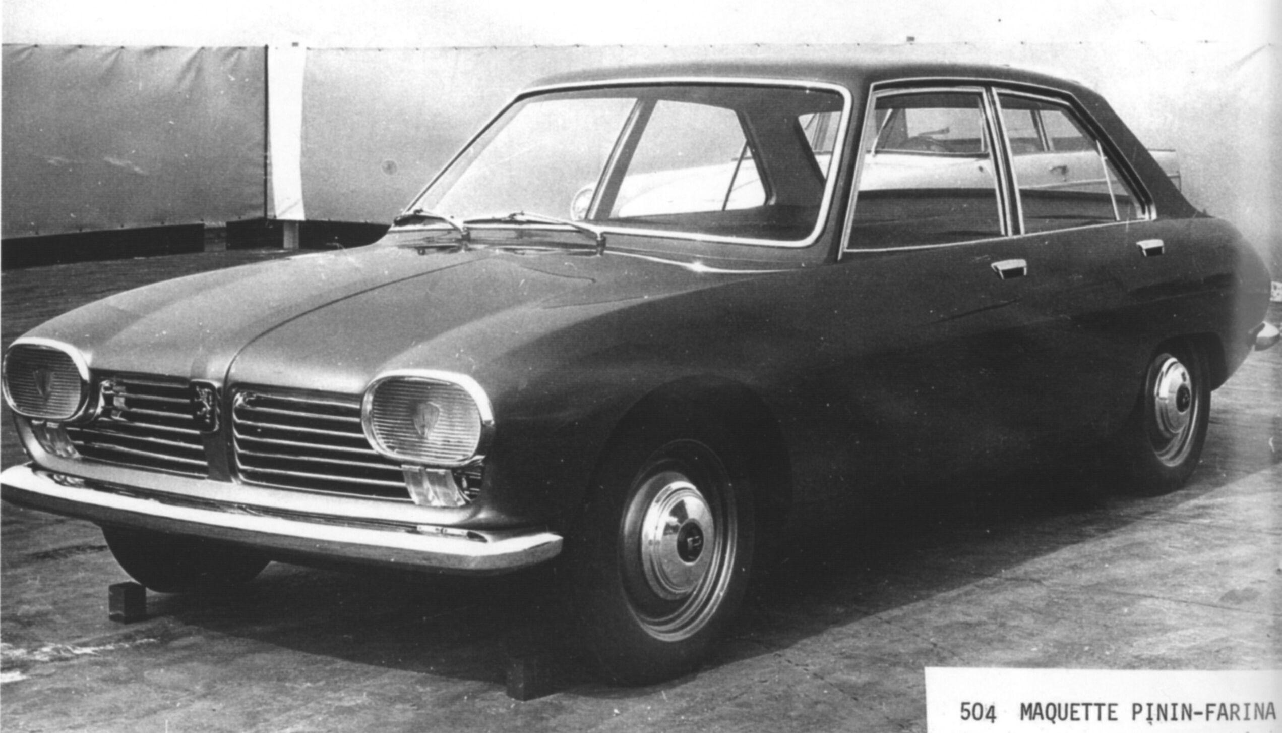 og 1968 peugeot 504 pininfarina 39 s 1st proposal from 1964 voitures et motos voiture. Black Bedroom Furniture Sets. Home Design Ideas