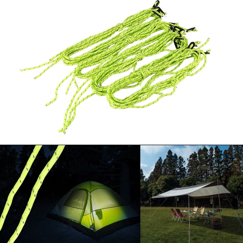 4PCS/Lot Tent Ropes Runners C&ing Cord Outdoor C&ing Reflective Tent Cords Tent Accessories  sc 1 st  Pinterest & 4PCS/Lot Tent Ropes Runners Camping Cord Outdoor Camping ...