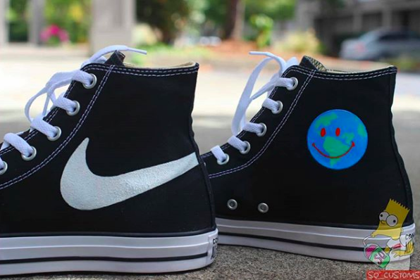 2d917e38f4058 Custom Travis Scott Astroworld Converse Nike | Custom Sneakers ...