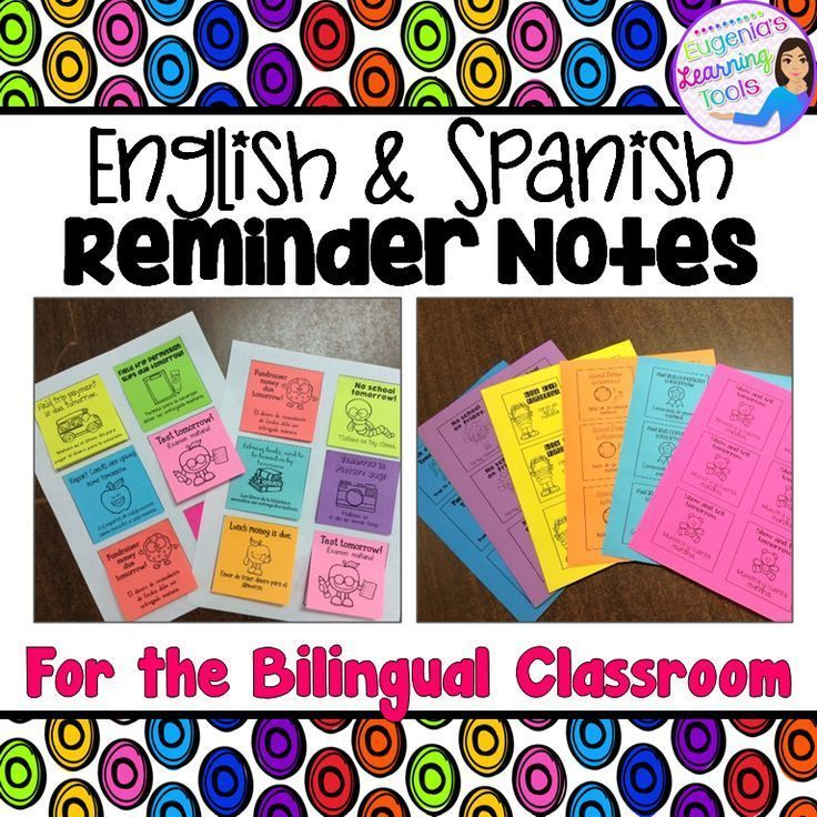 Parent Communication Reminders in English and Spanish Spanish