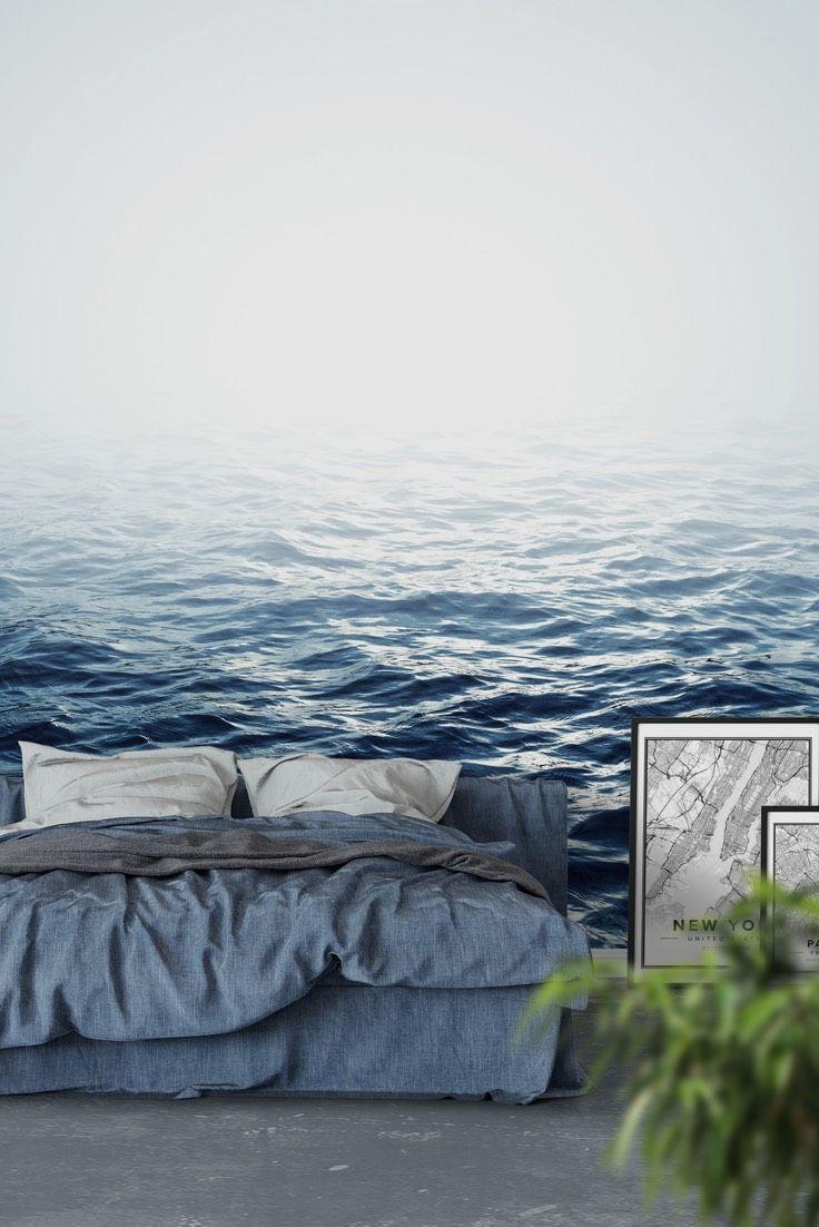 Ocean Fog Wall Mural Ocean Wallpaper Ocean Mural Mural Wallpaper