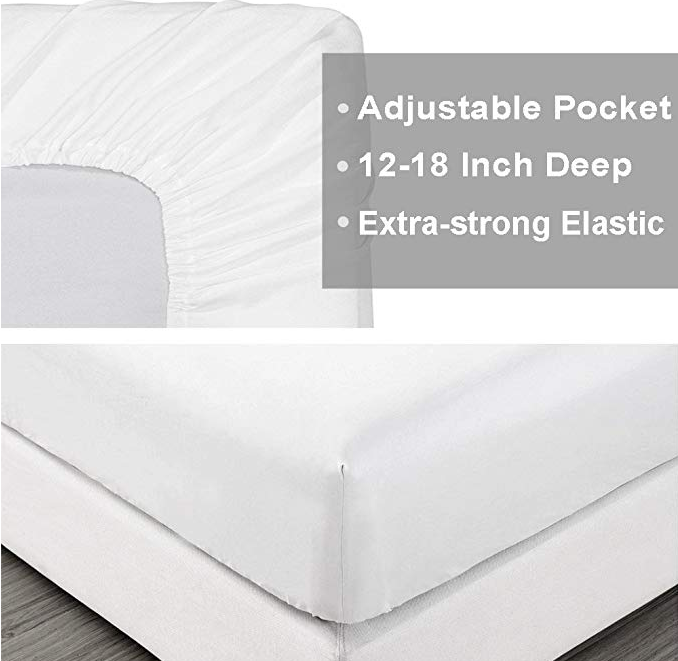 Only 2 Hours Left 15 59 For Queen Size White Sheet Sets Hotel Quality Lightning Deals Start From August 13 4 45 Pm Sheet Sets Queen Sheets White Sheet Set 18 inch deep pocket queen sheets