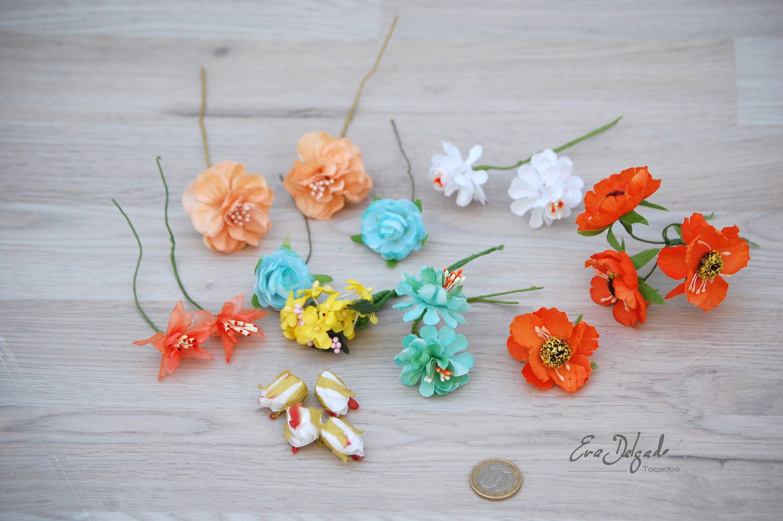 20 Flores Surtidas Materiales Para Tocados Flores Artificiales Materiales Para Coronas Flores De Tela Material Diy Flores De Seda Millinery Flowers