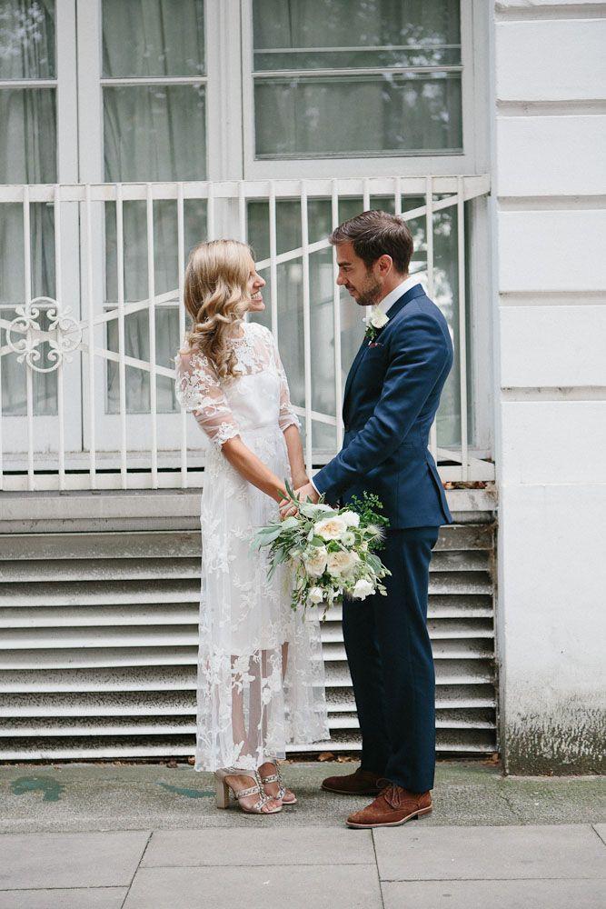 Casual U0026 Stress Free London Wedding | Via: Rock N Roll Bride. Backyard  Wedding DressesCasual ...