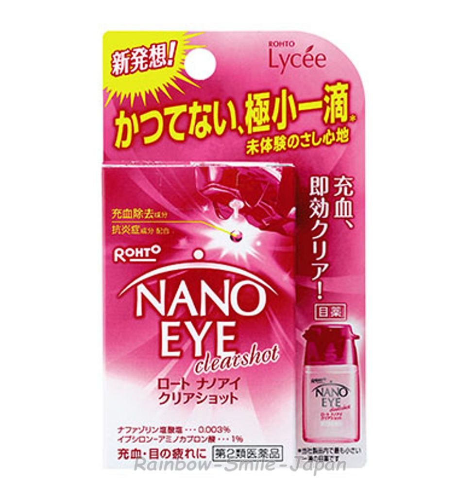Rohto NANO EYE Clear Shot 6ml Eye Care Eyedrop JAPAN