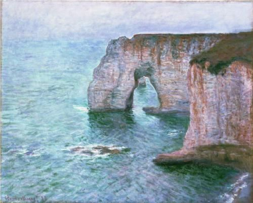 The Manneport Seen from the East 1885 - Claude Monet