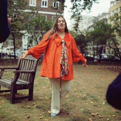Mama Cass in Soho Square, London.