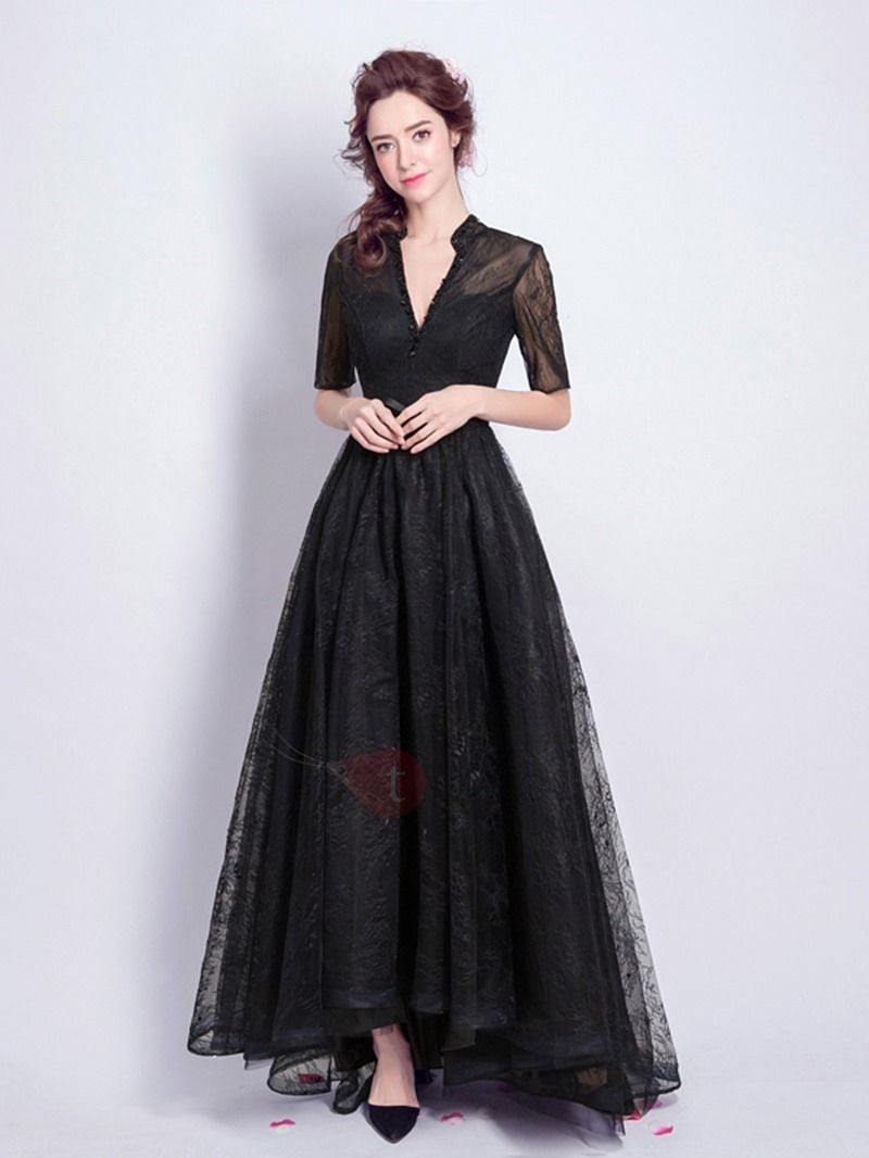 18a5f78fa Tidebuy.com Offers High Quality Elegant Beaded Lace A-Line V-Neck Half  Sleeves Floor-Length Evening Dress, We have more styles for Evening Dresses  2017