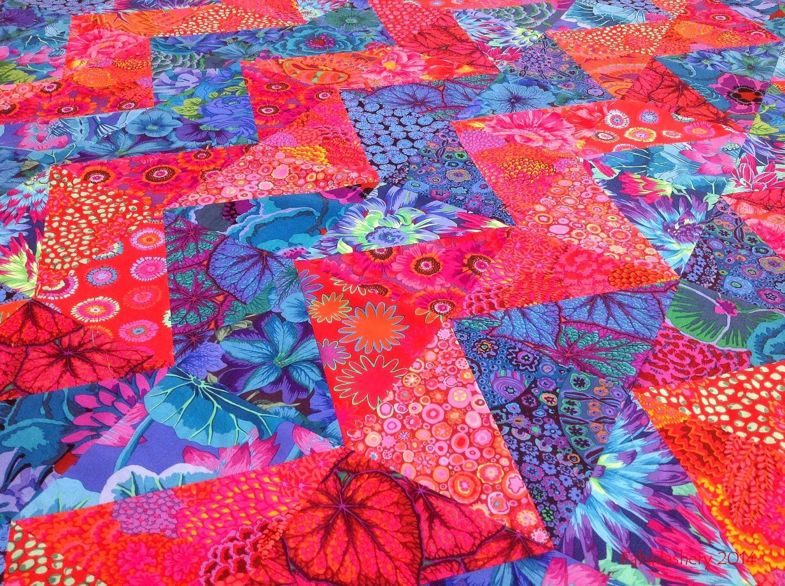 gorgeous! zig zag/chevron quilt using kaffe fassett fabrics, by ... : kaffe fassett fabrics quilting - Adamdwight.com