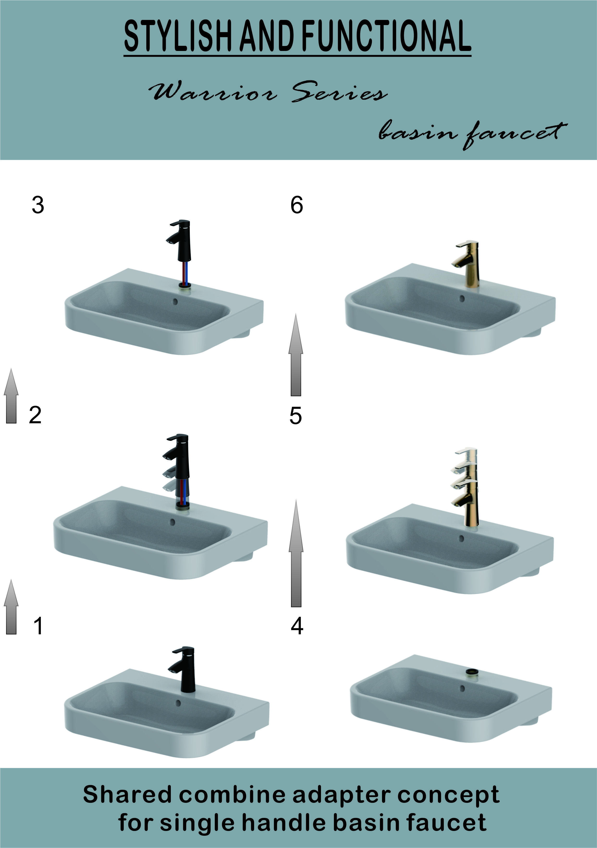 Shared Combine Adapter Concept For Single Handle Basin Faucet Basin Lavatory Faucet Faucet