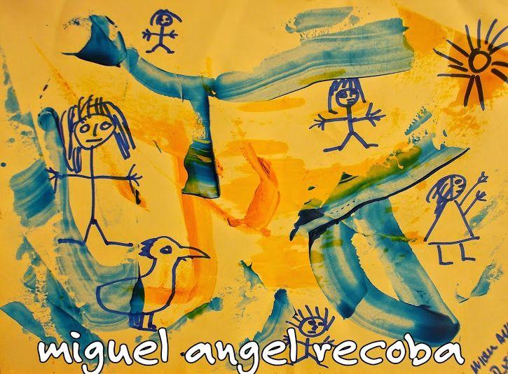 obra de miguel angel recoba  técnicas múltiples sobre tela , madera y carton