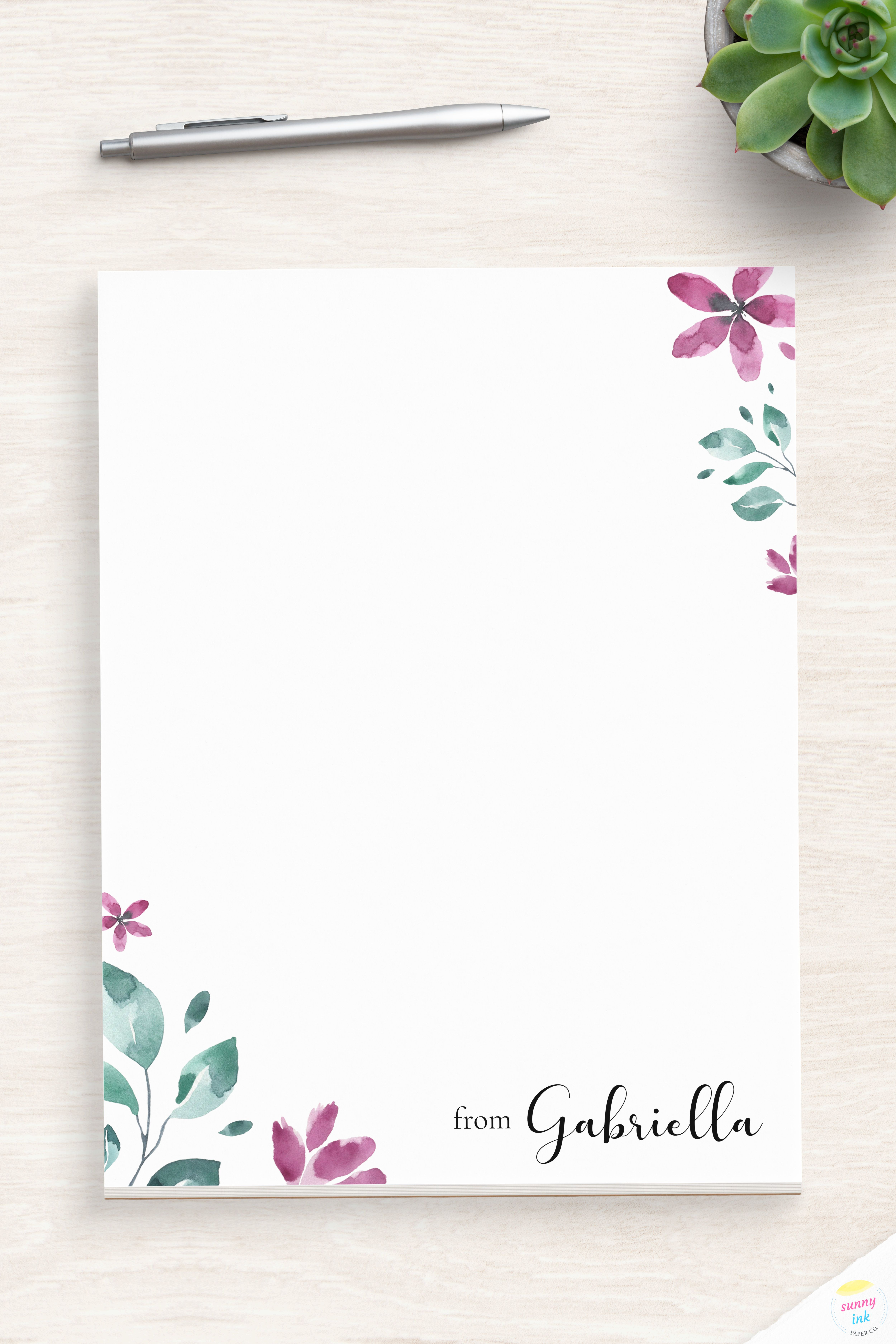 Pin On Floral Stationery
