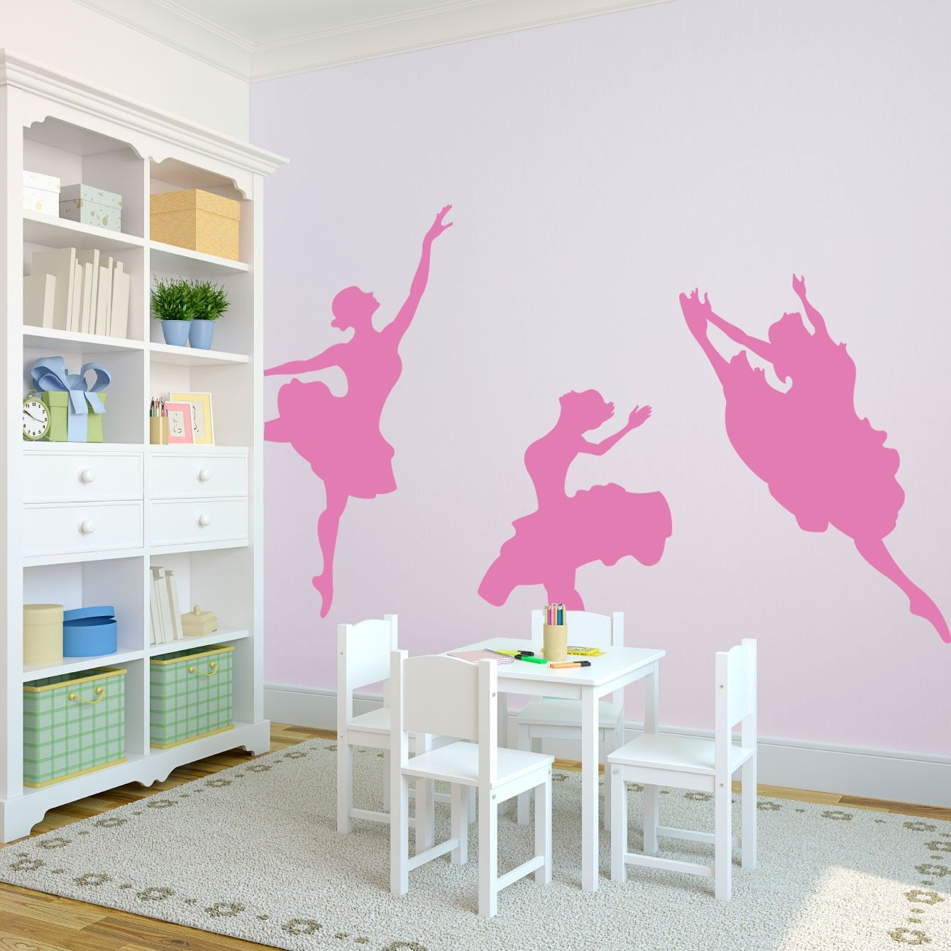 Dancing Ballerinas Dance Rooms Wall Art Decal And Dance Class - Custom vinyl wall decals dance