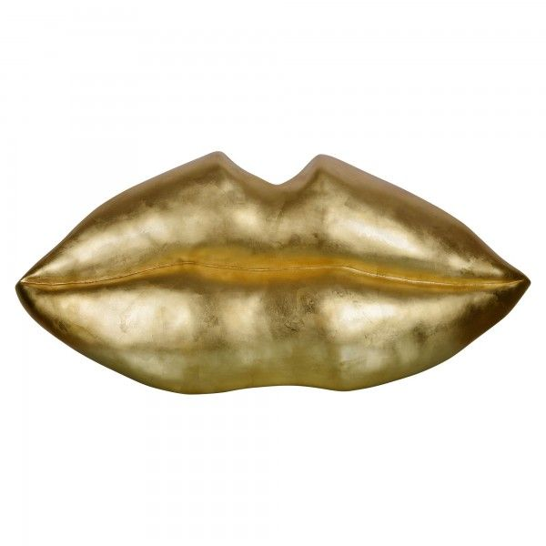 Resin moulded lips - Gold leaf finish 49x23 | Wall Decor | Pinterest ...