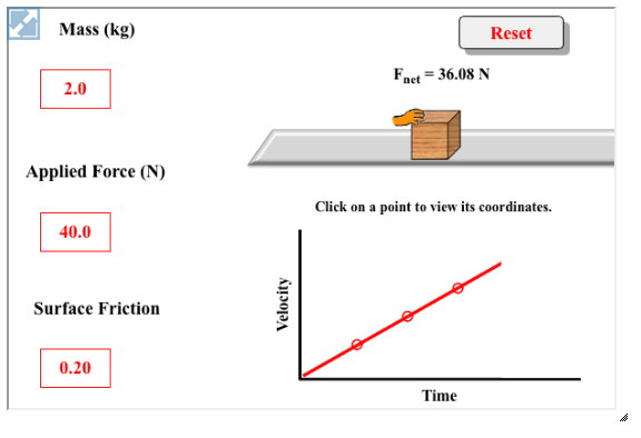 In this interactive physics simulation, learners apply a ...