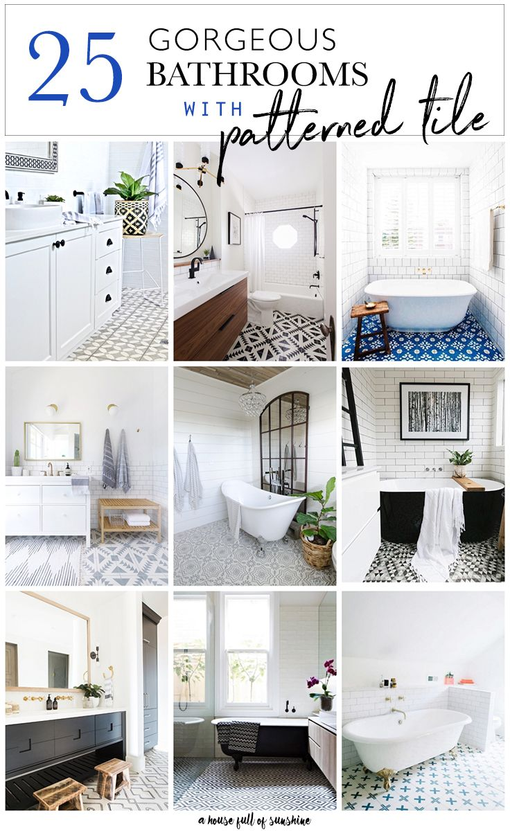 25 Gorgeous bathrooms with patterned tile | Patterns and Craft