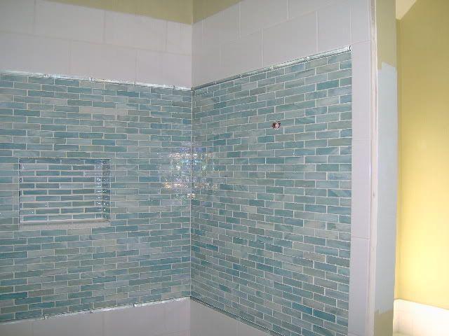 Glass Tiles Tub Surround Border Tile Tub Surround Bathrooms Remodel Tub Surround
