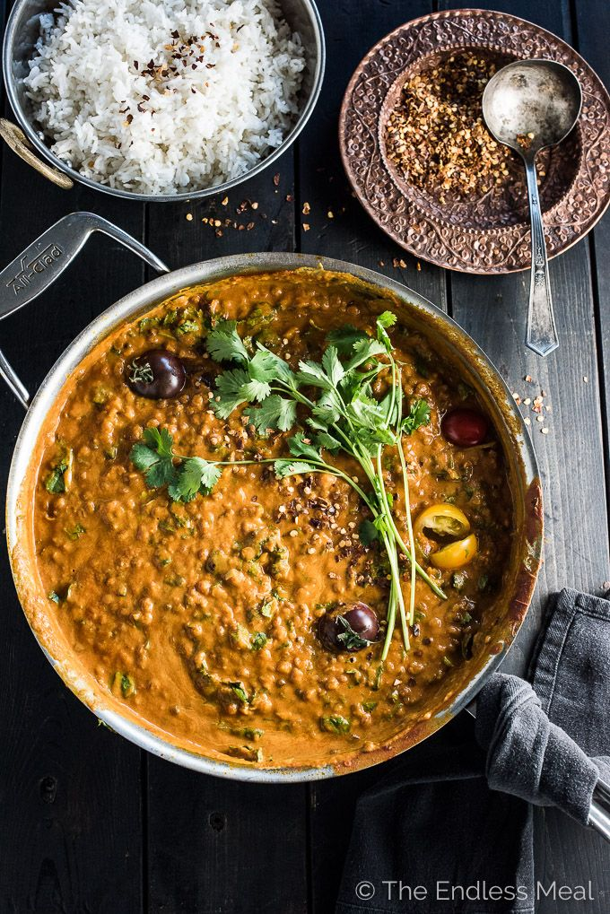 Creamy Coconut Lentil Curry #indianfood