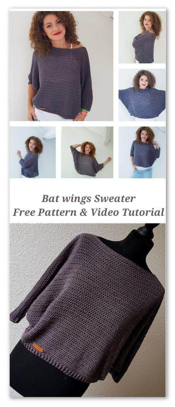 Bat Wings Sweater - ByKaterina Bat Wings Sweater | CROCHET ...
