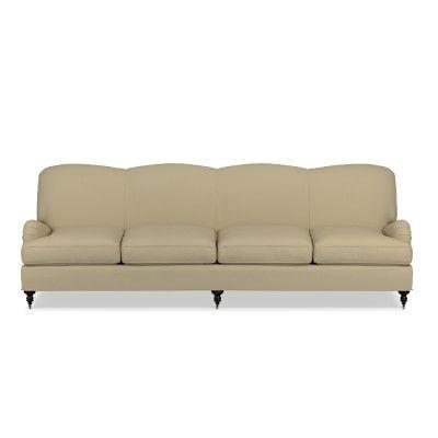 """Bedford 108"""" Sofa, Standard Cushion, Chunky Cotton, Safari"""
